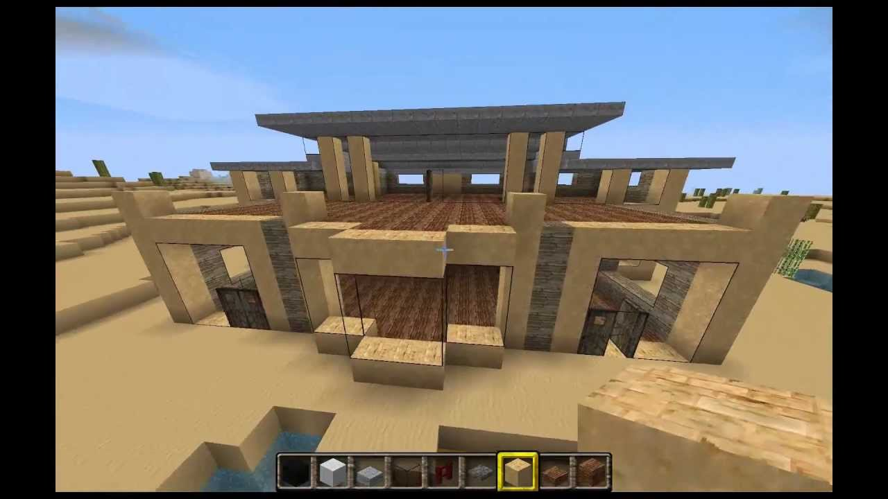 Minecraft tutorial construcci n de una casa moderna for Construccion casas
