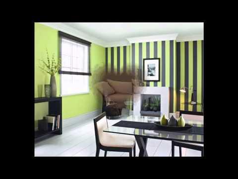 Wallpape borders decor ideas for living room