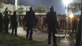 Fradi szurkolók a Haladás Ferencváros focimeccs előtt és után