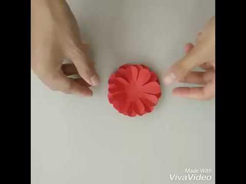 ดอกไม้กระดาษติดบอร์ด#1(paper flower)