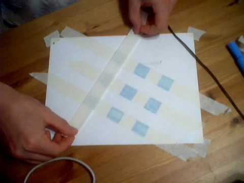 How to make a checkerboard pattern with masking tap