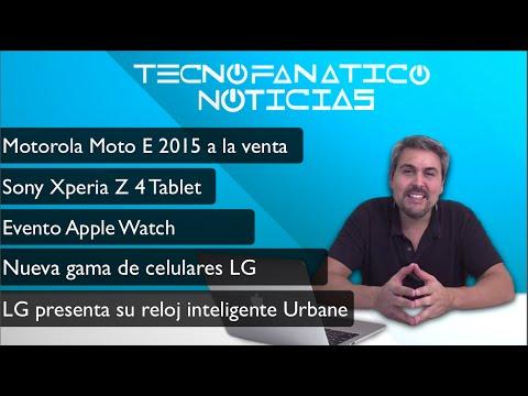 Resen?a Motorola Moto E 2015, Xperia Z4 tablet,  LG Watch Urbane, Apple Watch,Pebble Time,