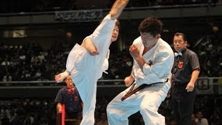 THE 45TH ALL JAPAN OPEN KARATE TOURNAMENT men semifinal Daiki Kato ...