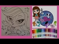 LPS Coloring - Zoe Trent Littlest Pet Shop - Coloring with Markers - Speed Coloring - Color Smiles