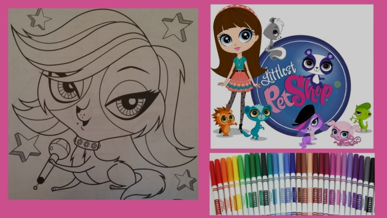 Lps Coloring Zoe Trent Littlest Pet Shop Coloring With Markers
