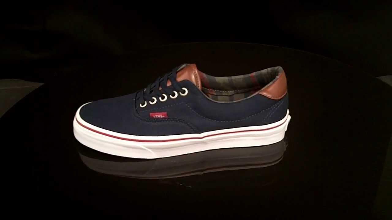 f76d279cb9be50 Vans ERA 59 sneakers C L Navy Stripes VUC68IH - YouTube
