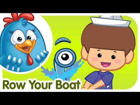 Row Row Row your Boat - Lottie Dottie Chicken - Kids songs and nursery rhymes in english