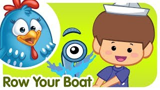 ROW ROW ROW YOUR BOAT with lyrics - Lottie Dottie Chicken