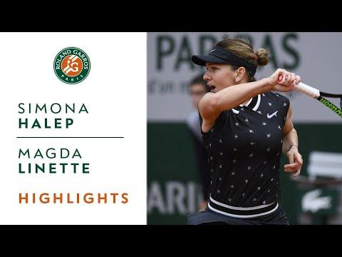 Simona Halep Vs Magda Linette - Round 2 Highlights | Roland-Garros 2019
