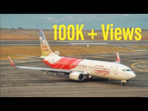 Air India Express   Boeing 737-800   Landing at Kannur Int'l Airport [HD]