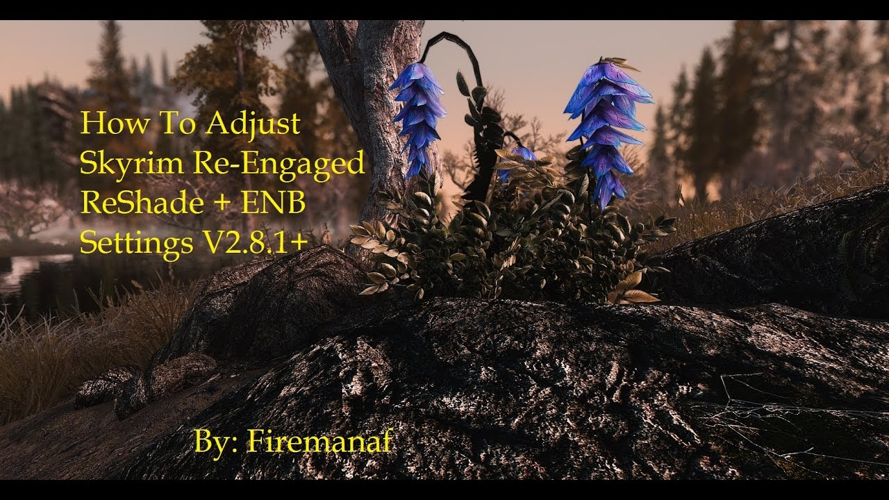 SkyrimSE Re Engaged How to Adjust ReShade + ENB Settings V2 8 1+