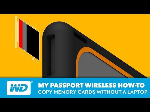 My Passport Wireless | How To Copy Memory Cards Without A Laptop