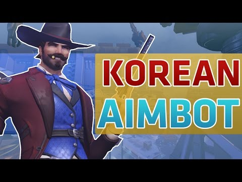 BEST MCCREE SUREFOUR VS KOREAN AIMBOT HACKERS OVERWATCH