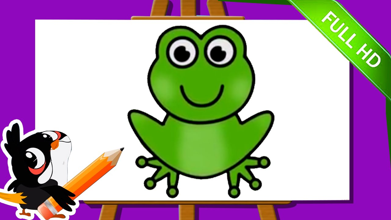learn how to draw a frog easy step by step frog drawing