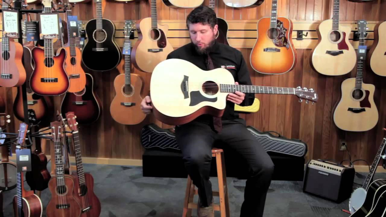 taylor 114ce grand auditorium acoustic electric product demonstration youtube. Black Bedroom Furniture Sets. Home Design Ideas