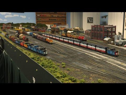 Layout Visit - Dan Lang's Boston & Maine HO Model Railroad Tour