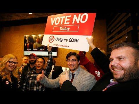 Calgarians vote no on Olympics