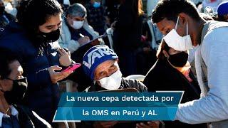 """La Organización Mundial de la Salud designó la variante Lambda """"de interés"""", detectada por primera vez en Perú en agosto de 2020; autoridades peruanas dicen que el 81% de los casos de Covid-19 diagnosticados desde abril pasado en el país están asociados a la cepa Lambda"""