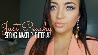 Just Peachy ♡ Spring Makeup Tutorial Thumbnail
