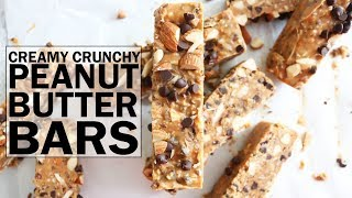 Creamy Crunchy Peanut Butter Bars (vegan + gluten free)