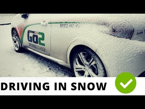 Driving In Snow! Tips, advice & Demo
