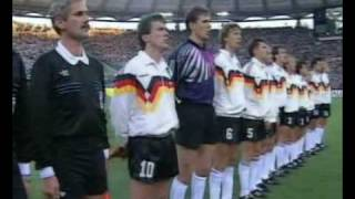 WC 1990 FINAL Germany vs Argentina National Anthem & Lineup