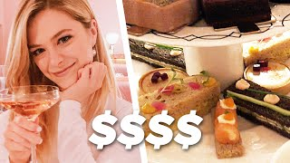 American Tries British High Tea in London | Kelsey Impicciche thumbnail