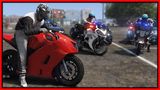 GTA 5 Roleplay - worlds FASTEST bike trolling cops | RedlineRP