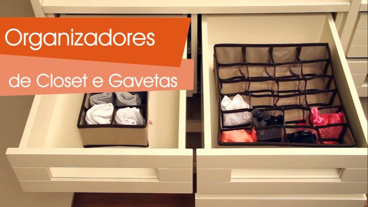 Organizadores de closet e gavetas youtube for Organizadores para closet