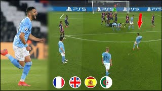 Mahrez goal against Paris Saint-Germain in all world languages ​​🔥. . . ᴴᴰ