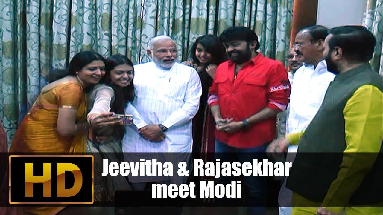 Jeevitha & Rajasekhar meet Narendra Modi