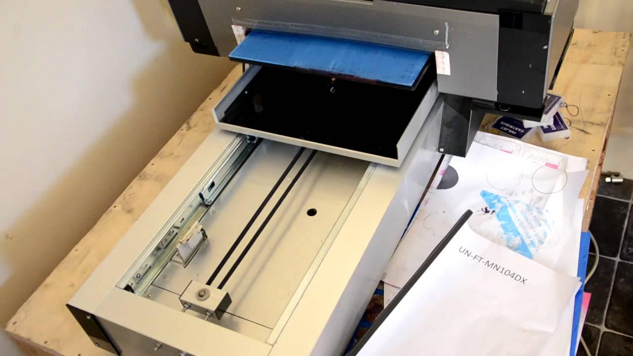 Flat Bed Epson White Ink Printer Stylus Photo R1900 Custom