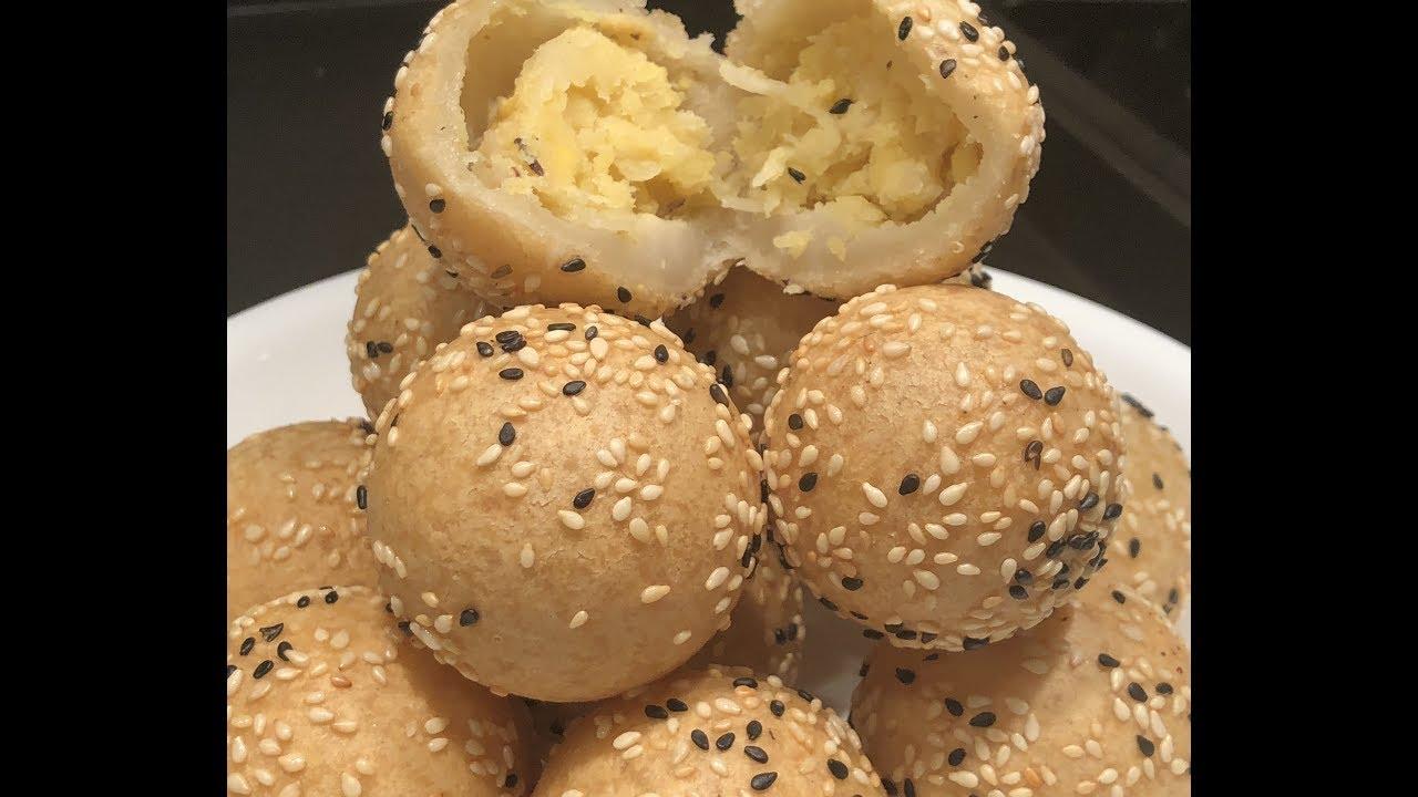 khmer dessert -Sesame Ball របៀបធ្វើនំក្រូច