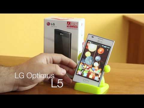 LG Optimus L5 unboxing y primera vista