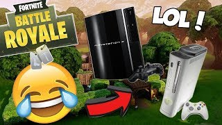 PLAYING FORTNITE ON LAST GEN! PS3 & XBOX 360! (Fortnite Battle Royale)