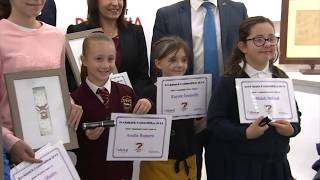 Seven year old school boy overall winner of 2019 Bookmark Competition