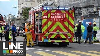 Tempête + feux - journée chargée pour les sapeurs-pompiers / Genève - Suisse 13 mai 2019