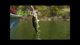 Reportagem Pesca Achigã Bass Barragem de Santa Clara part 2 - Black Bass Fishing in portugal