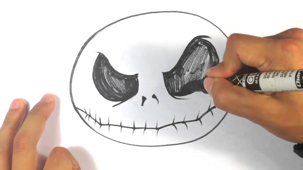 How To Draw Jack Skellington From The Nighmare Before X Mas Halloween Drawings