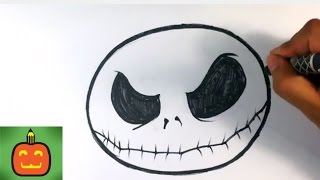 How to Draw Jack Skellington from The Nighmare Before X-mas - Halloween Drawings