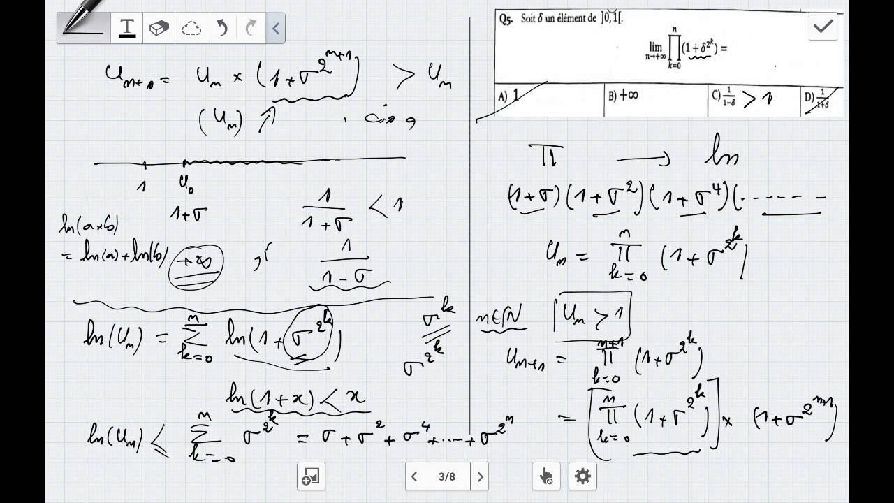 math : concours ENSA Tanger 2007 Q.8 , 9 , 10 et 11 - YouTube