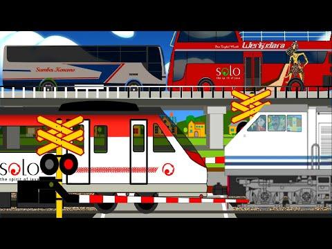 Animasi Anak Kereta Api Bathara Kresna, KAI, Bus Werkudara dan Sumber Kencono - Adit Sopo Jarwo
