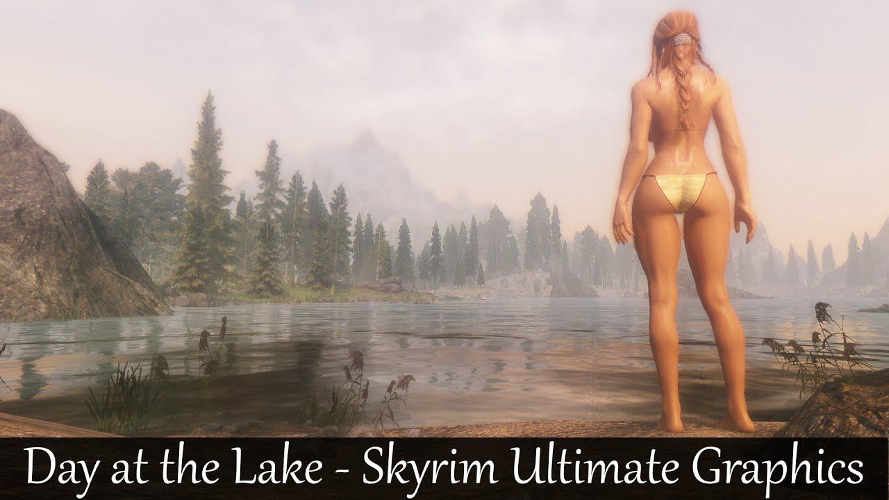 Dk Wallpaper Hd Skyrim Ultimate Graphics Day At The Lake 4k Hd Youtube