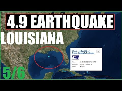 LOUISIANA EARTHQUAKE 4.9 TSUNAMI INFO GULF OF MEXICO