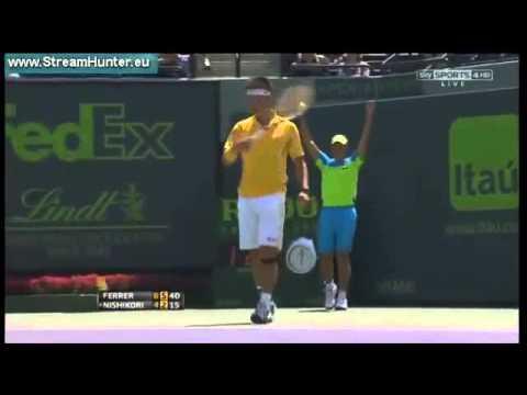 David Ferrer vs Kei Nishikori ROUND 4   ATP Miami 26 03 2013