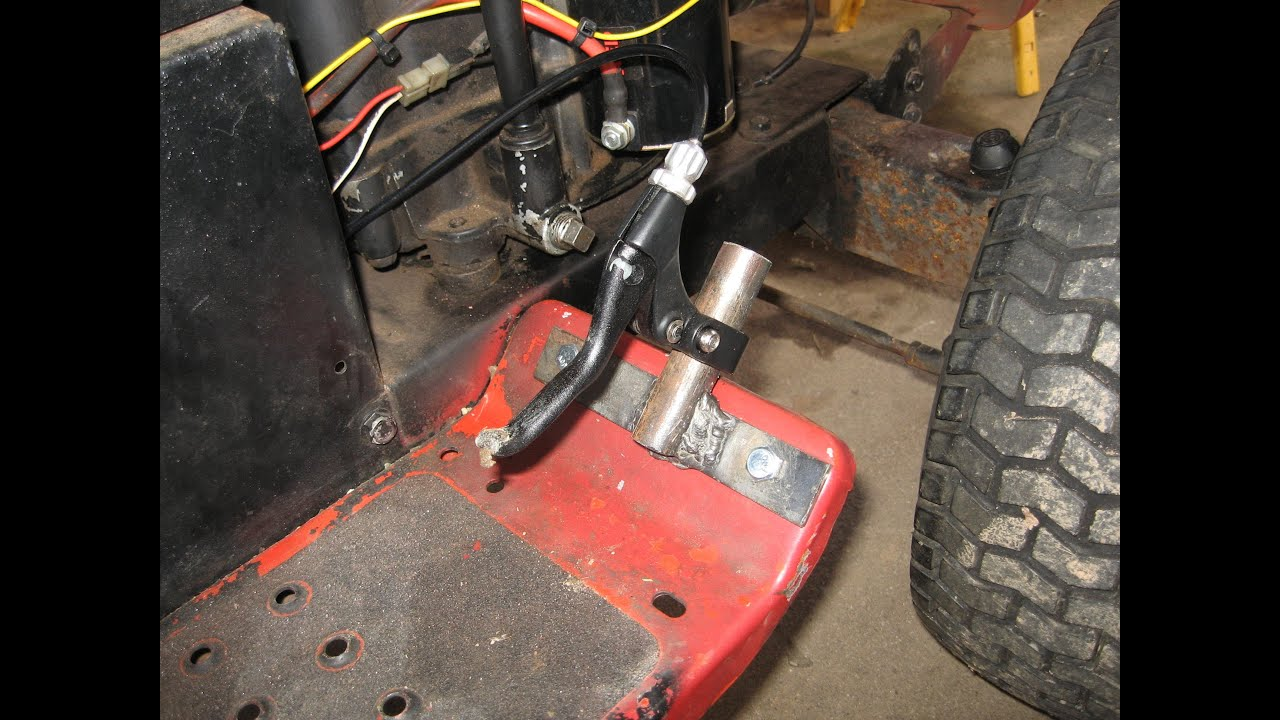 how to: riding mower gas pedal