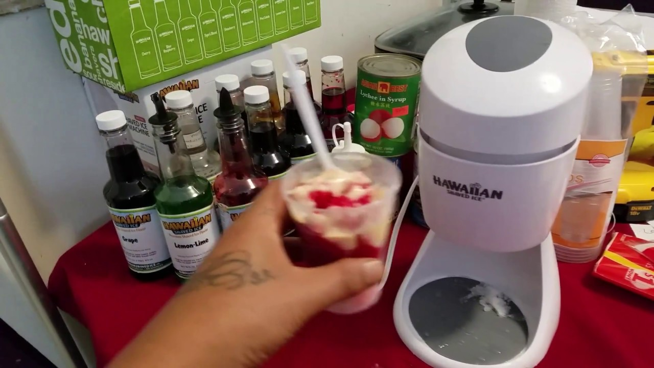 real hawaian shaved ice machine