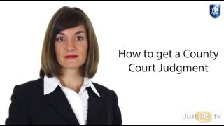 How to get a County Court Judgement