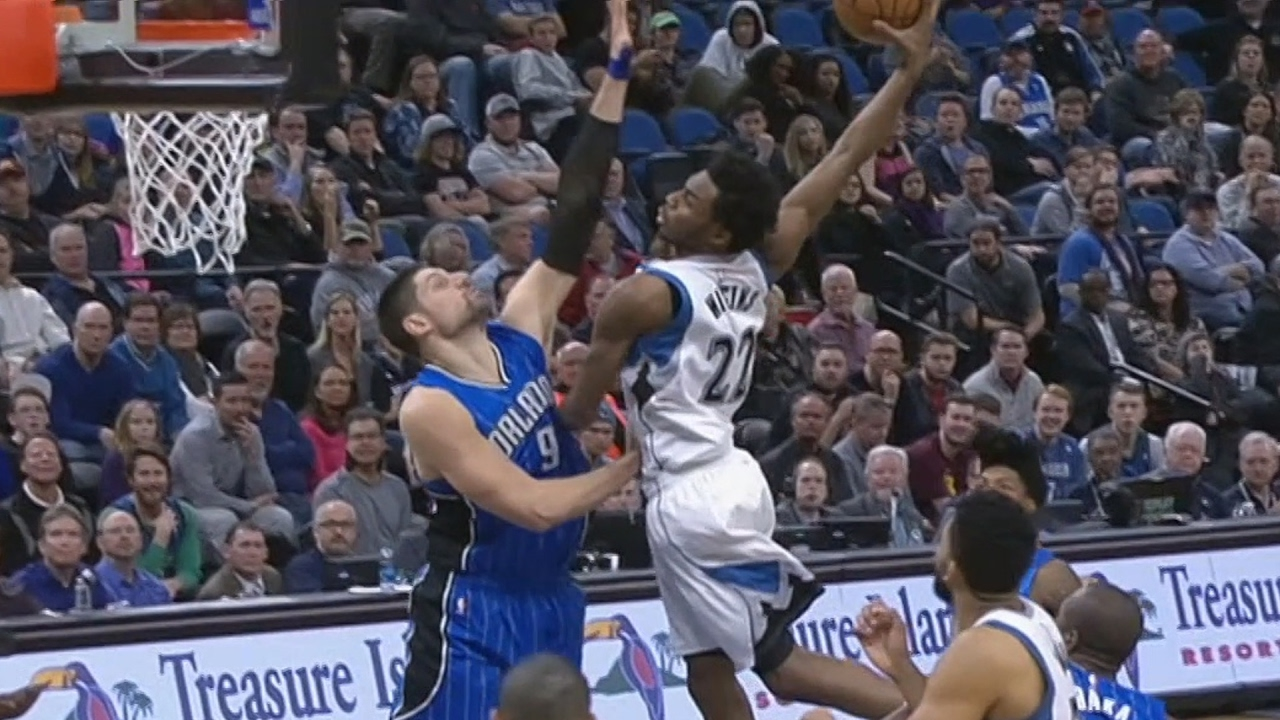 Andrew Wiggins Dunks On Nikola Vucevic Dunk Of The Year Magic Vs