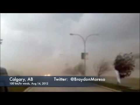 Extreme, damaging winds of up to 100 km/hr today in Calgary, AB area!